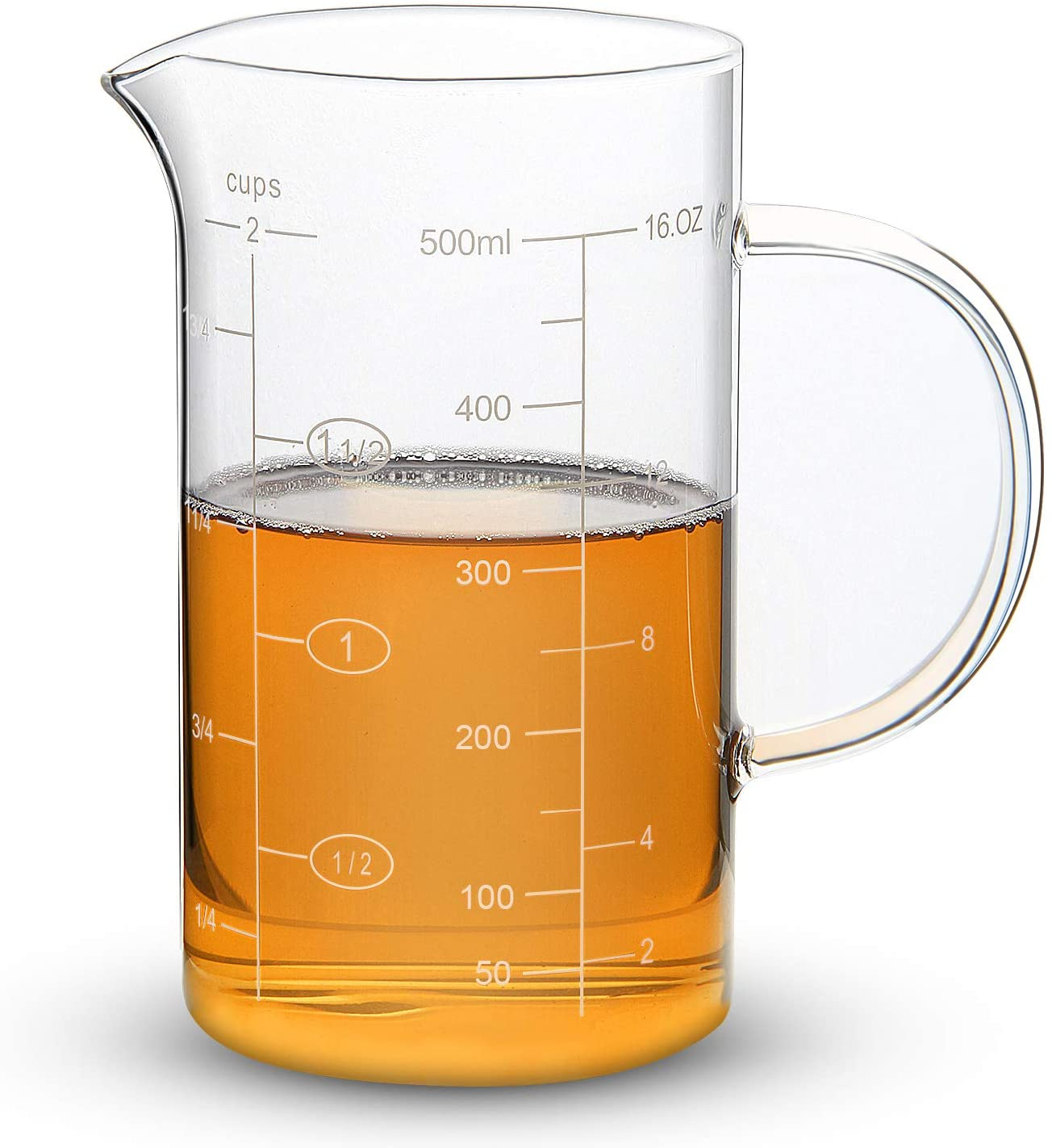 Glass Measuring Cup Etched